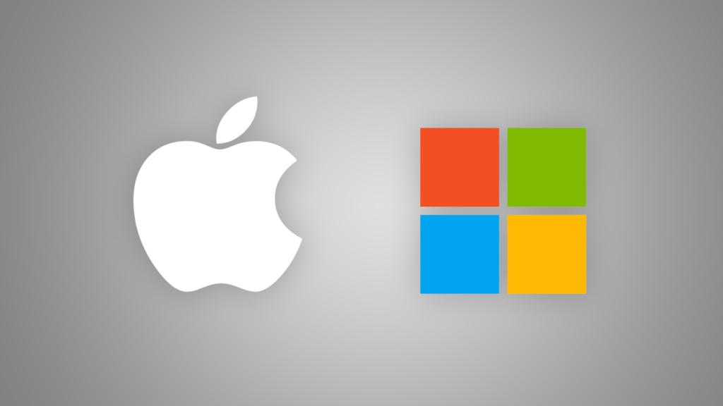 За последние 5 лет показатель Эппл превосходил Майкрософт на 10%.