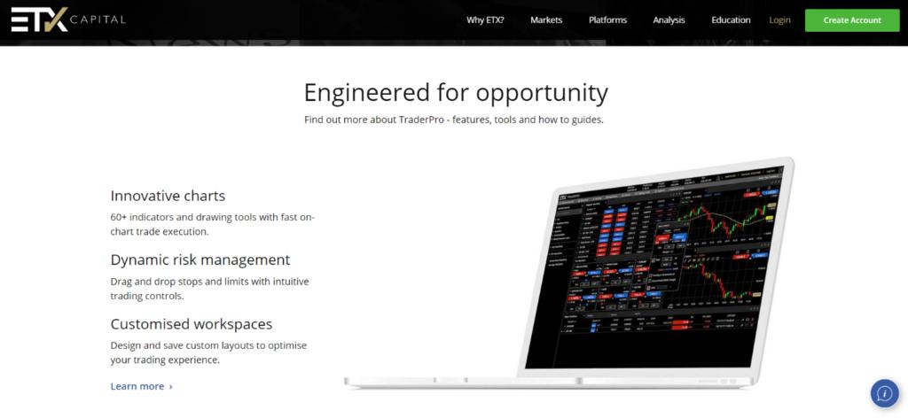 О чем рассказывает официальный сайт ETX Capital?