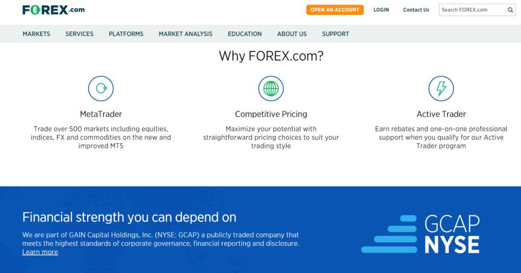 На официальном сайте FOREX.com указывается, что для открытия счета потребуется всего 5 минут