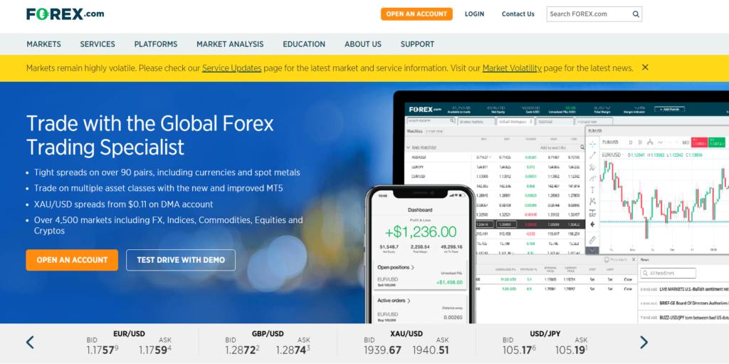 Компания FOREX.com