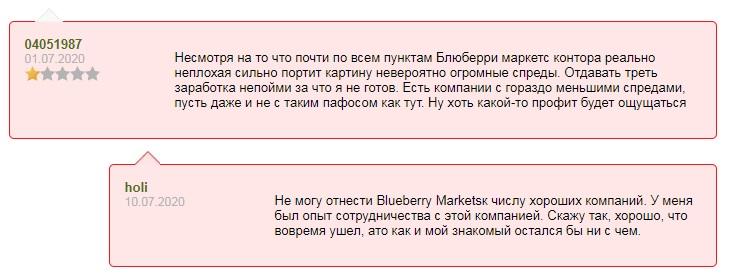 Отзывы о BlueberryMarkets