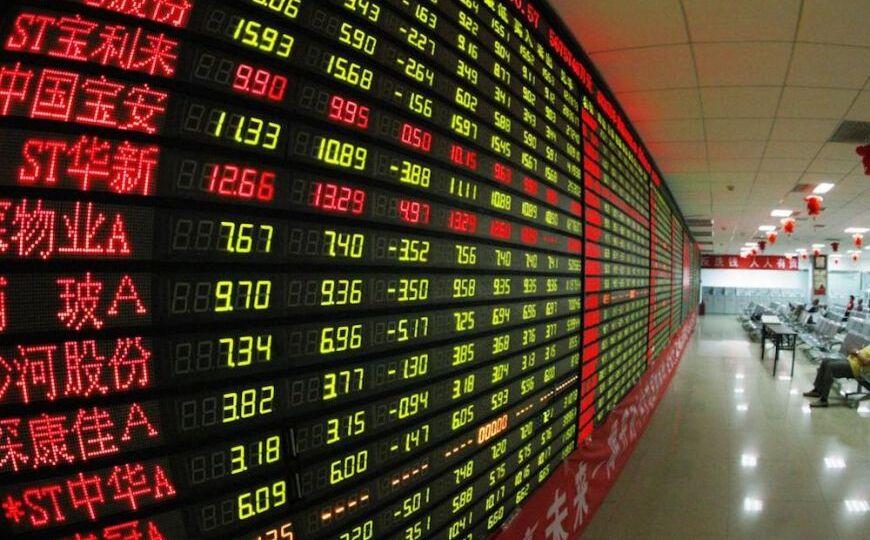 Азиатские биржи по большей части падают из-за статистики КНР