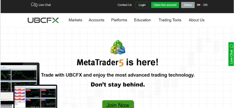 Компания UBCFX в качестве торгового брокера