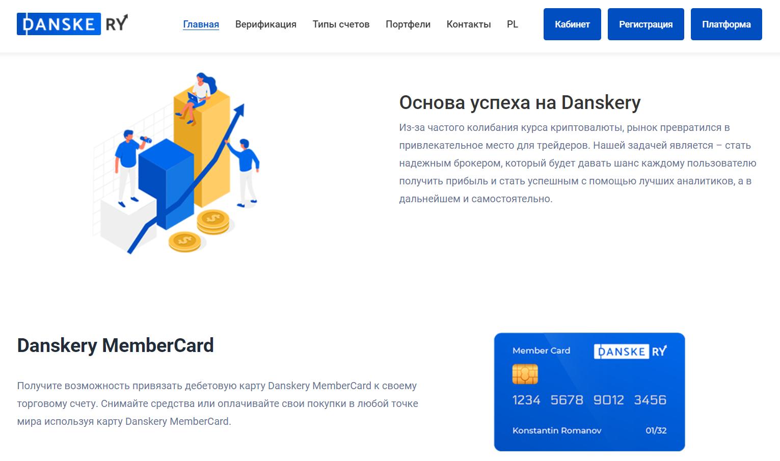 Анализ официального сайта Danskery.