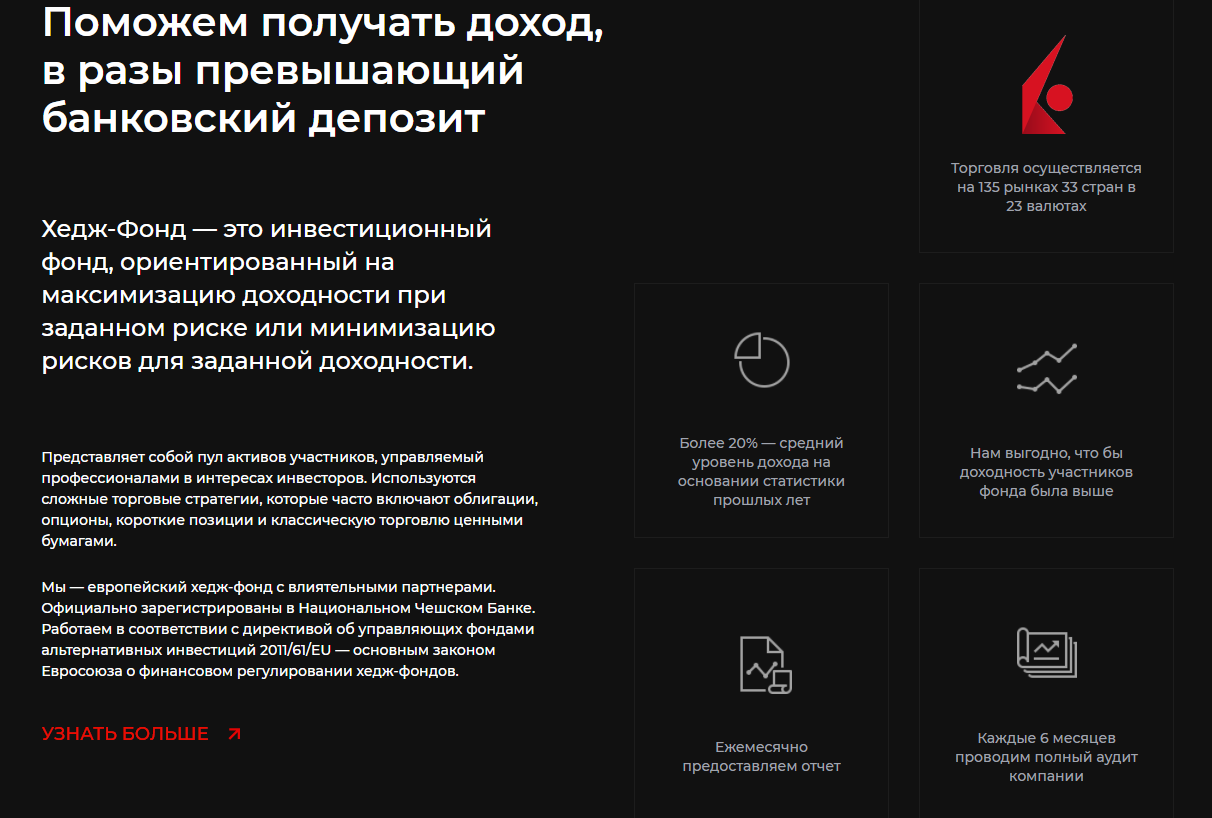 Услуги Global Secure Invest