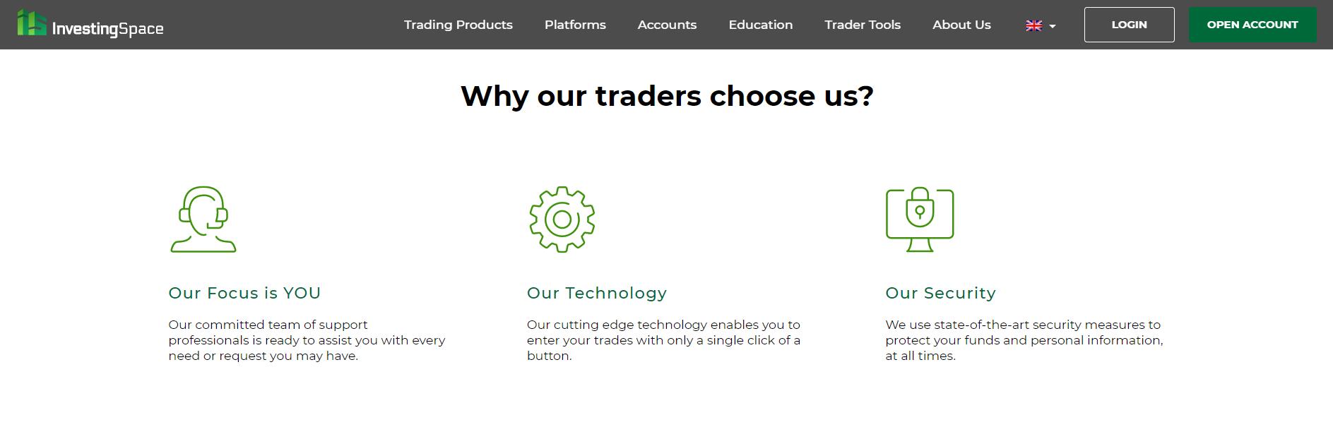 Официальный сайт Investing Space