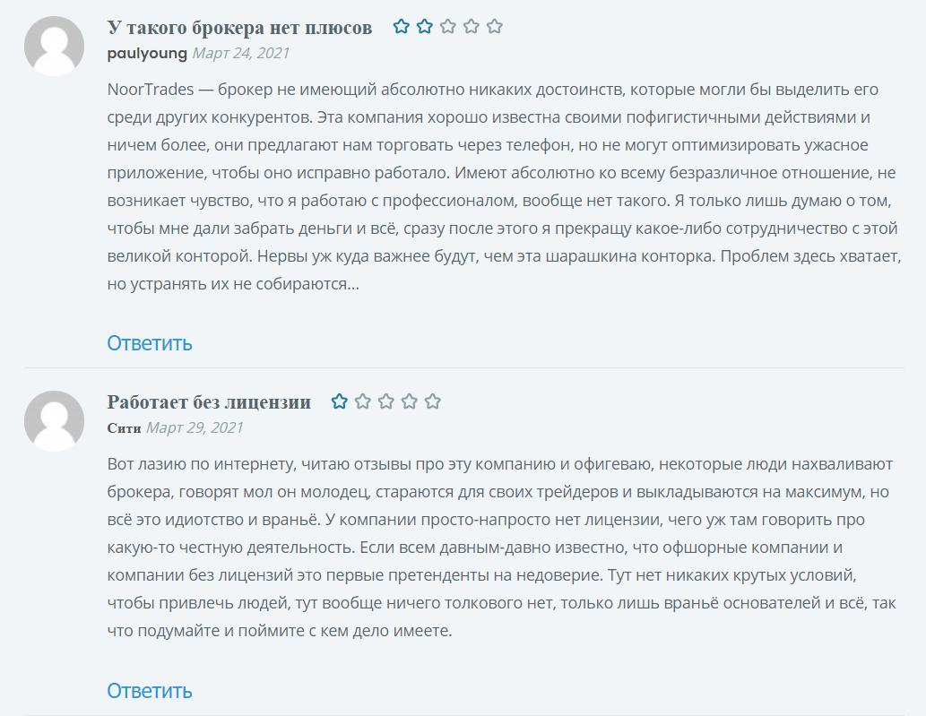 Отзывы пользователей платформы